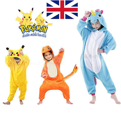 Pokemon Costumes Kids (Kids Child Girl boys Pokemon Costume Animal Pajama OneXi Unisex Cosplay)