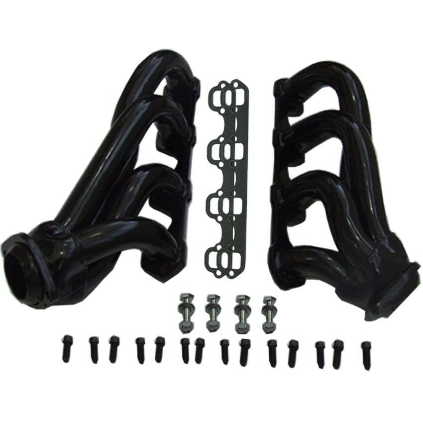 For Ford 86-93 Mustang Black Coated Exhaust Headers 5.0L
