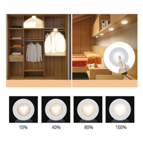 Details About Led Kitchen Under Cabinet Lighting Wireless Counter Night Light Battery Operated