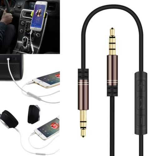 Pragmatic Control Talk Headphone 3.5mm Male AUX Audio Cable Lead With Mic US
