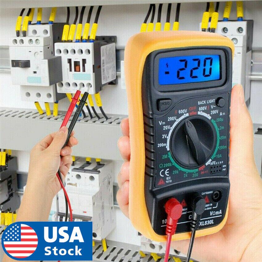 USA Seller Digital Multimeter LCD Voltmeter Ammeter Ohmmeter OHM VOLT Tester Business & Industrial