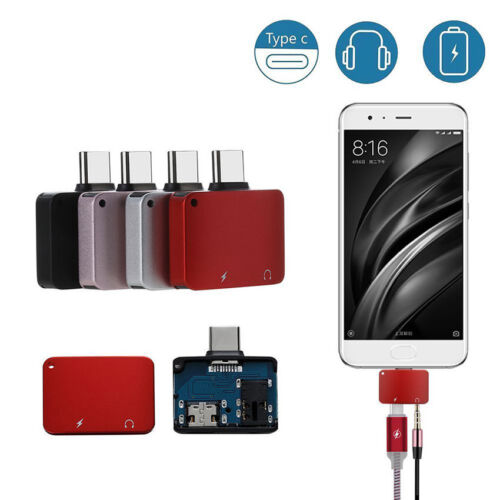 Mini 2 in1 Type C to 3.5 mm and Charger Headphone Audio Jack USB C Cable Adapter