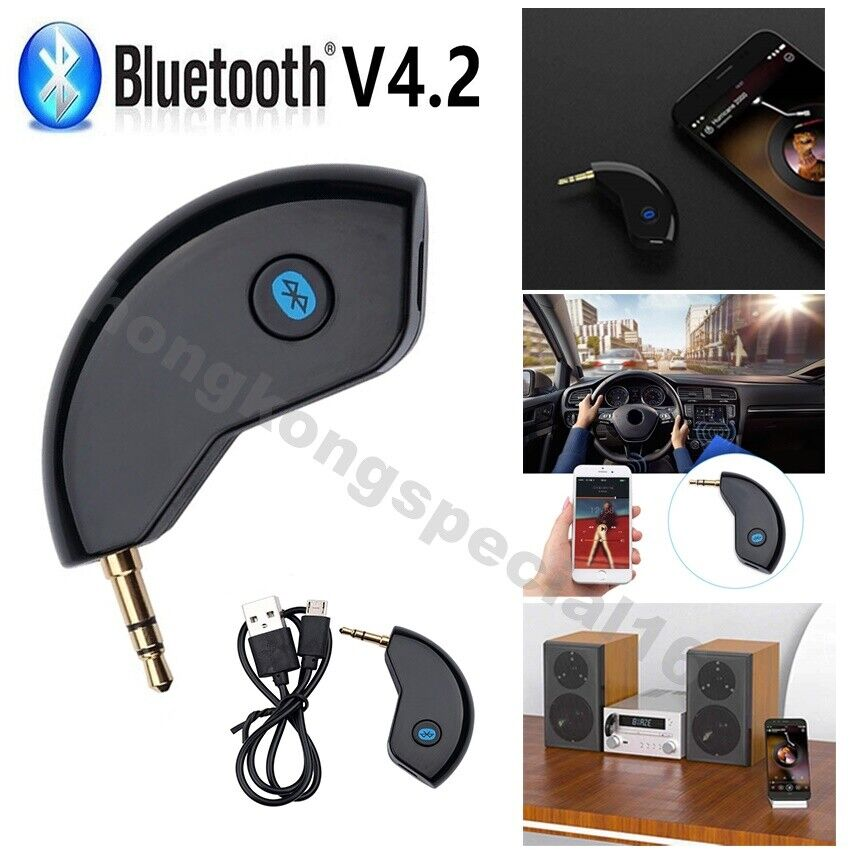 3.5mm AUX Car Bluetooth 4.2 Receiver Speaker Music Streaming