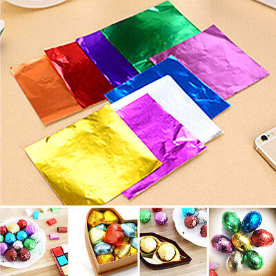 100pcs/Lot Square Foil Wrappers Package for Sweets Candy Chocolate Lolly 8*8cm Foil Chocolate Wrappers