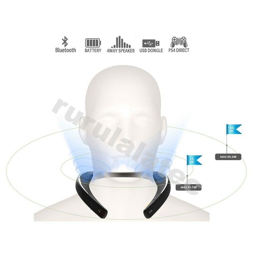 My Theater Bluetooth Neckband Wearable Speaker For PS4, TV,