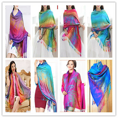 Scarf - New Fashion Pashmina Cashmere Womens Scarves Paisley Stole Shawl Wrap Scarf