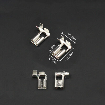 Uninsulated 5.2mm Right Angle Female Flag Spade Connector Crimp Wire Terminals
