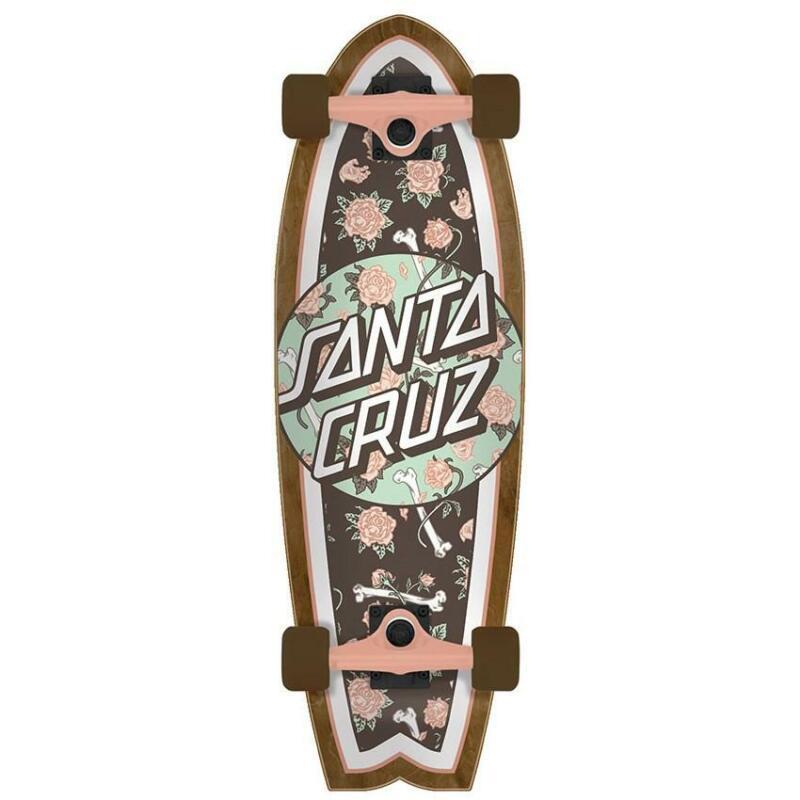 Santa Cruz Floral Decay 8.8 x 27.7 Shark Cruiser Complete Skateboard, New!
