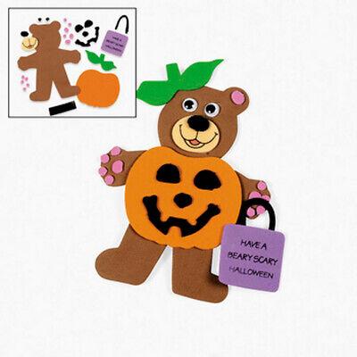 Trick or Treat Halloween Teddy Bear Magnetic Craft Kit Kids Pumpkin 5