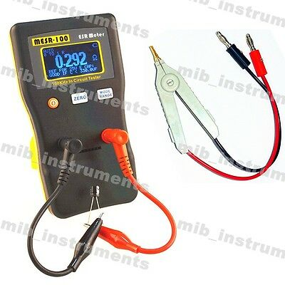 Youtube Reviewed Mesr-100 Esr Low Ohm In Circuit Capacitor Meter Smd Clip Probe