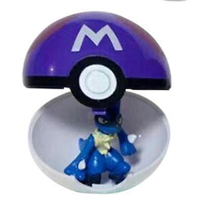 9 Pokemon Pokeball Pop-up 7cm Cartoon Plastic BALL Kids Toy Gift Pikachu Monster