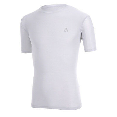 Coolmax Mens Athletic GYM Fitness Training Workout Clothes Short Sleeve White M