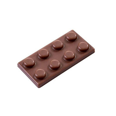 Martellato Clear Polycarbonate Chocolate Mold, Tile Block, 45 x 23 x 6mm H 23 Chocolate Mold