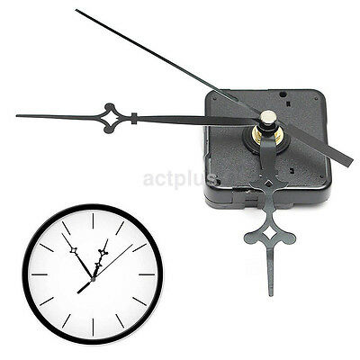 High Precision Wall Clock Quartz Movement Mechanism DIY Parts Set Black Hands US