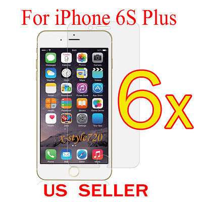 6 X Clear Film - 6x Clear LCD Screen Protector Guard Cover Film For Apple iPhone 6s Plus 5.5