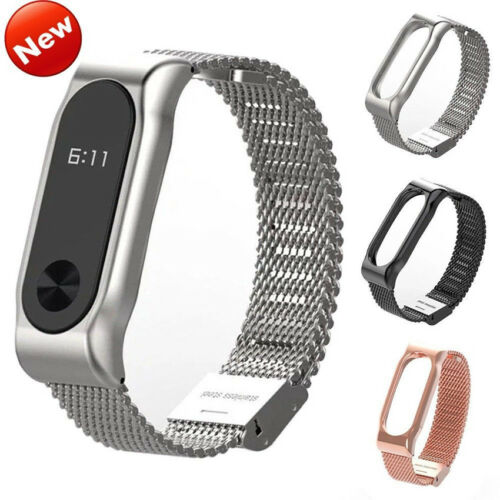 Wholesale Metal Wrist Strap Band Bracelet for Xiaomi Mi Band 2 Smart Watch New