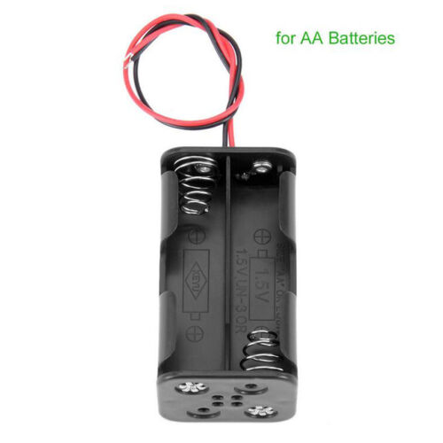 2PCS For 4x AA Rechargeable Battery Plastic Battery Holder Storage Box Case