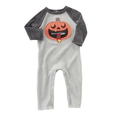 Zipper Mouth Halloween (NWT Mud Pie Pumpkin Zipper Mouth Baby Boys Halloween Romper Jumpsuit)