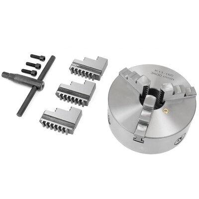 3 Jaw Self Centering Chuck 125mm 5 Inch Reversable Jaw Key 4 Metal Lathe