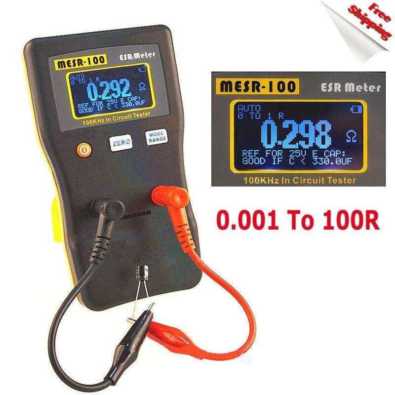 MESR-100 V2 AutoRanging In Circuit ESR Capacitor Tester Meter 0.001 to 100R New