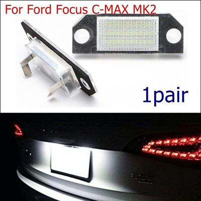 2pc Super Bright Number Lights For Ford Focus MK2 C-MAX Rear License Plate Lamp