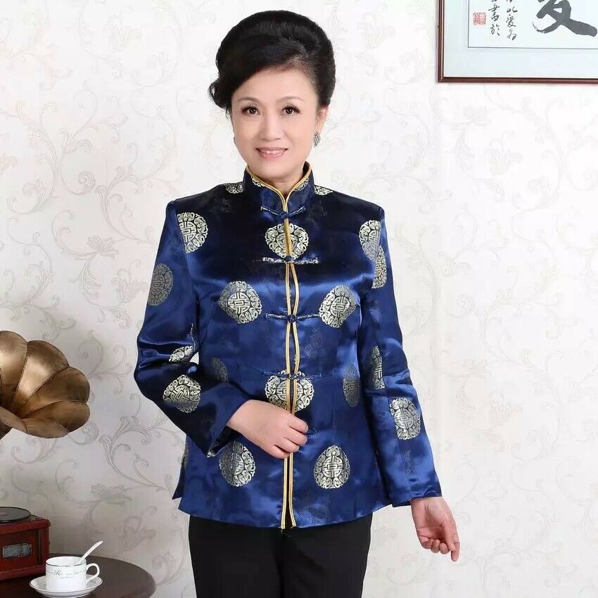 Nouveau Traditionnel Magnifique Chinois Oriental Satin Manches Courtes Top Cheongsam