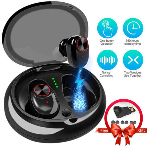 Bluetooth Earphone With V5.0+EDR Stereo Sound V5 Wireless Earphone TWS Earbuds
