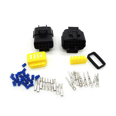 50 sets 10 Pin Way Waterproof Wire Connector Plug Car Auto Sealed Electrical Set
