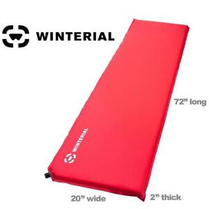 NEW WINTERIAL SLEEPING PAD 00-C8IW-I5GD 141050679 LIGHTWEIGHT BACKPACKING CAMPING BAG TRAVEL RED