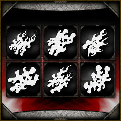 """""""Fire Storm Full Set"""" Airbrush Stencil Template Airsick"""