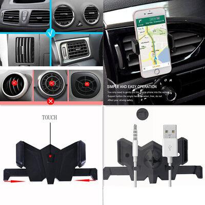 Car Bat Phone Mount Dashboard Air Vent Holder Rotation Design Cell For...
