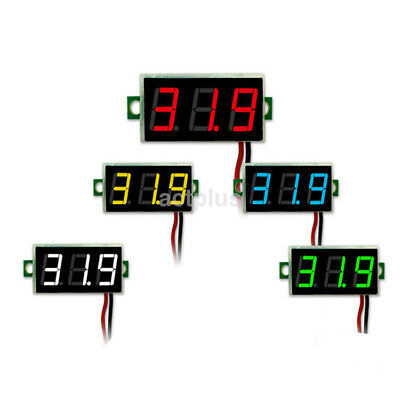 Hot Mini Two Wires Digital Voltmeter Dc 4.5-30v Led Diaplay Panel Voltage Meter