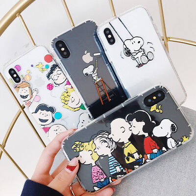 Cute Cartoon Animals Snoopy Tpu Silicone Phone Case Cover For Iphone X 8 7 6S