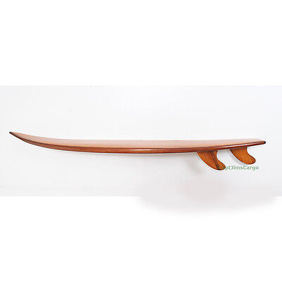 "Half Surfboard Shelf 69.5"" Surfing Wall Art Cedar Wood & Epoxy Fiberglass"