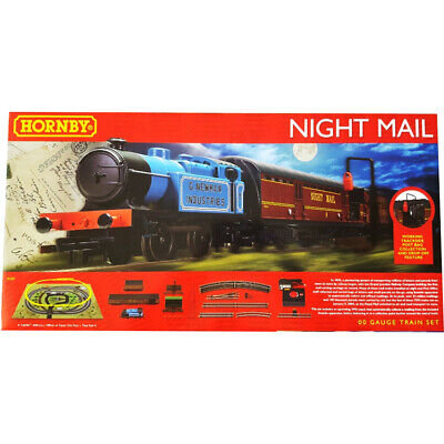 Hornby Royal Mail Night Mail Analogue Train Set Steam Locomotive 1:76 Scale OO