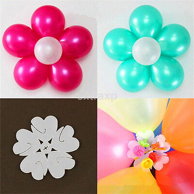 10 PCS Latex Balloon Arch Stand Connectors Clip Flower Shape Sealed Birthday - Flower Balloons