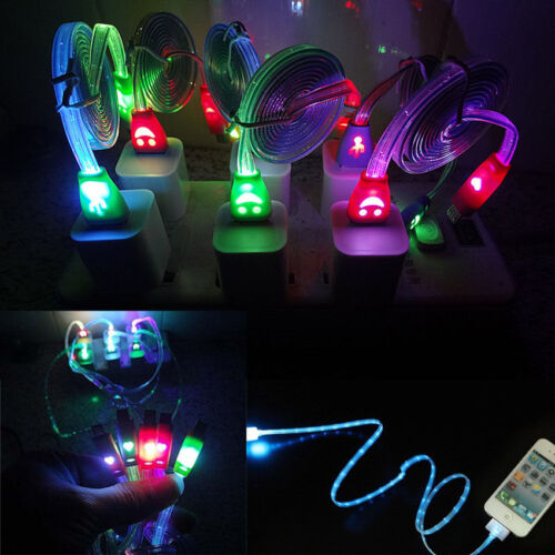 Light-up LED USB Data Sync Charger Cable Cord for iPhone 5 6