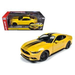 2016 Ford Mustang Gt 5 0 Yellow Limited 1002pc 1 18 Model Car By Autoworld Aw229