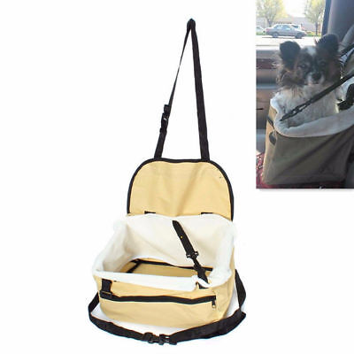 1x Small Pet Kennel Afety Booster Dog Puppy Cat Car Seat Leash Lookout Foldable
