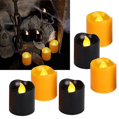 "6 tlg Set LED Kerzen ""Halloween"" 45x38mm Stumpenkerze flackernd Kerze klein ()"