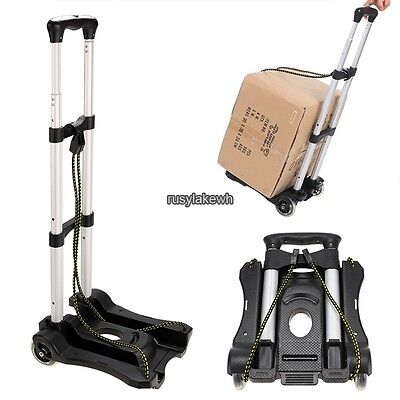 Cart Folding Dolly Push Hand Truck Moving Warehouse Collapsible Trolley Us Ship