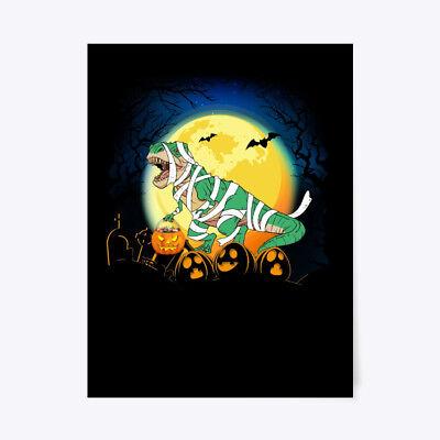 Halloween Posters For Kids (Halloween Pumpkin Dinosaur For Kids Gift Poster -)