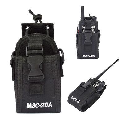 MSC-20A Portable Nylon Pouch Holster Bag Case For Baofeng Motorola Kenwood Radio