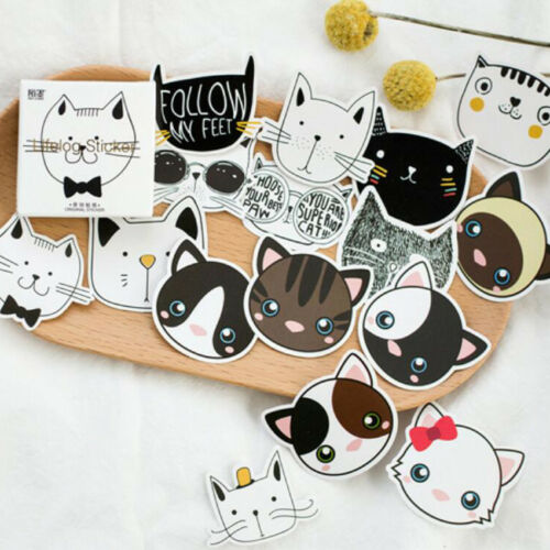 Practical Mini Cat Head Paper Sticker Decoration DIY Diary Label 45 Pcs/lot Nice