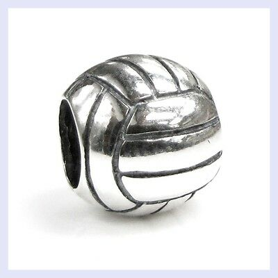 Volleyball Charm Bracelet (925 Sterling Silver Sport Volleyball Exercise Bead for European Charm)