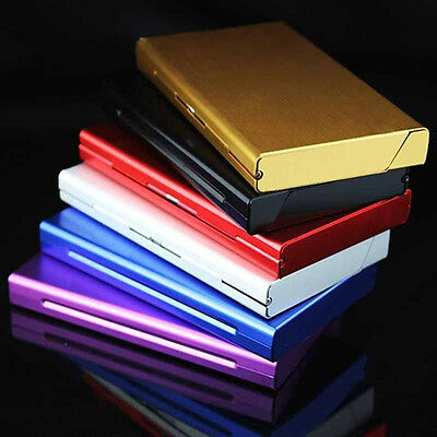 Metal Fashion Man Women Smoke 20 Cigarette Case Box Holder Slim Thin Wholesale U