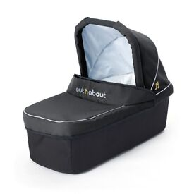 Out'n'About Nipper Single Carrycot in Black