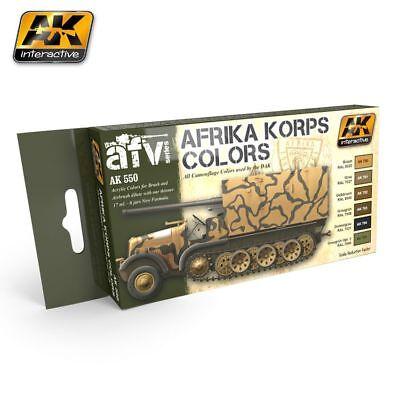 AK Afrika Korps Paint Set - 6 Colors - 60550