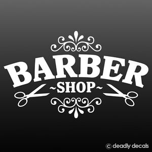 Barber Shop Vinyl Shop Sign For Barbers Hair Salon Window