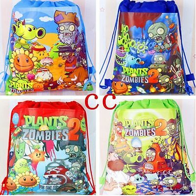 Hot sale Plants vs. Zombies Kid's Drawstring Backpack School Bag,Party Gift bag (Zombie Sale)